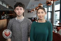 Pictured at the Limerick Pride 2019 Press Launch at the Clayton Hotel are Eoghan Daly, Caherdavin and Katie O Connor, Croagh. Picture: Conor Owens/ilovelimerick