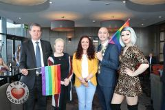 Pictured at the Limerick Pride 2019 Press Launch at the Clayton Hotel are Pat Reddan, Manager Clayton Hotel Limerick, Cllr Sarah Kiely, Janesboro, Lisa Daly, Chairperson Limerick Pride, Metropolitan Mayor Daniel Butler and Sarah Tonkin,  Castletroy. Picture: Orla McLaughlin/ilovelimerick.