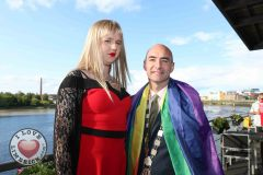 Pictured at the Limerick Pride 2019 Press Launch at the Clayton Hotel are Destiny Fairchild, city centre and Metropolitan Mayor Daniel Butler. Picture: Orla McLaughlin/ilovelimerick.