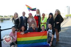 Pictured at the Limerick Pride 2019 Press Launch at the Clayton Hotel are Karma Monet, City Centre, Metropolitan Mayor Daniel Butler,  Maite Logia, City Centre, Destiny Fairchild, City Centre, Michelle Grimes, Riverpoint, Valerie Dolan, Dock Road, Noah Monet, City Centre, (back row) Leon McNamara, City Centre, Chairperson of Limerick pride Lisa Daly, Rosbrien, Richard Lynch, I Love Limerick,  Leon McNamara, City Centre, Conor Leahy, Dooradoyle, and Eoin Sexton, Carew Park (front row). Picture: Orla McLaughlin/ilovelimerick.