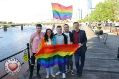 Pictured at the Limerick Pride 2019 Press Launch at the Clayton Hotel are Leon McNamara, City Centre, Lisa Daly, Rosbrien, Conor Leahy, Dooradoyle, Eoin Sexton, Carew Park, and Richard Lynch, I Love Limerick. Picture: Orla McLaughlin/ilovelimerick.