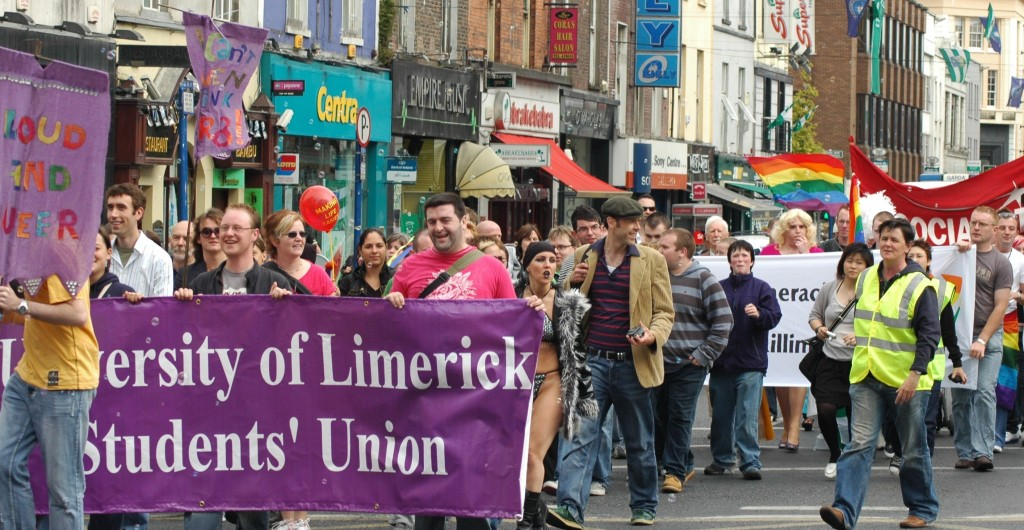 The festival began its now-annual Pride Parade in 2007, attracting crowds of several hundred people as we marched down O'Connell Street.