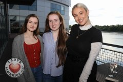 Pictured at the Limerick Pride 2019 Press Launch at the Clayton Hotel are Sinead Fitzgibbon, Rathkeale, Chloe Reidy and Caoimhe Gaffney, Castletroy. Picture: Conor Owens/ilovelimerick