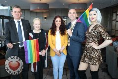 Pictured at the Limerick Pride 2019 Press Launch at the Clayton Hotel are Pat Reddan, Manager Clayton Hotel Limerick, Cllr Sarah Kiely, Janesboro, Lisa Daly, Chairperson Limerick Pride, Metropolitan Mayor Daniel Butler and Sarah Tonkin,  Castletroy. Picture: Conor Owens/ilovelimerick