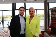Pictured at the Limerick Pride 2019 Press Launch at the Clayton Hotel are Darren Kelly, Hilltop and Limerick singer Michelle Grimes. Picture: Orla McLaughlin/ilovelimerick.